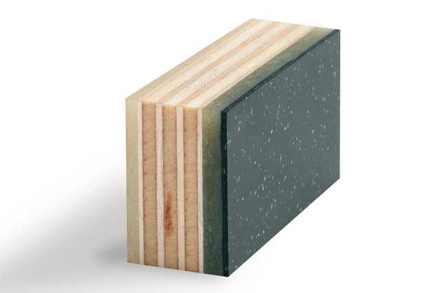 Polyester Wall - FRP: Fibreglass Reinforced with Plywood